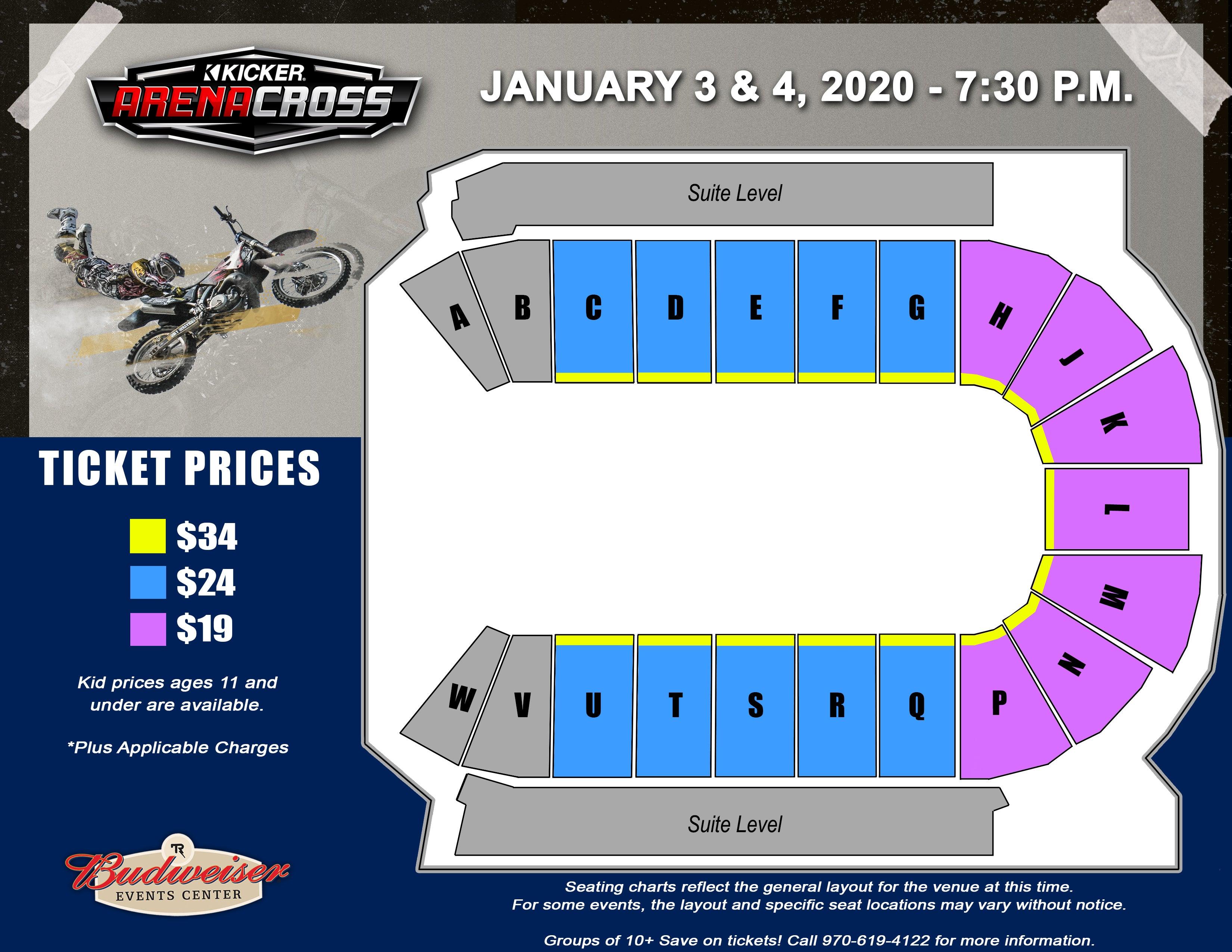 Arenacross - Seating Map
