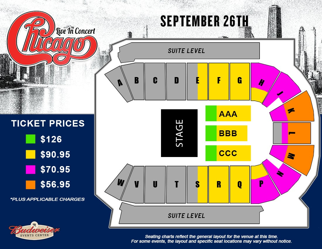 Chicago - Seating Map