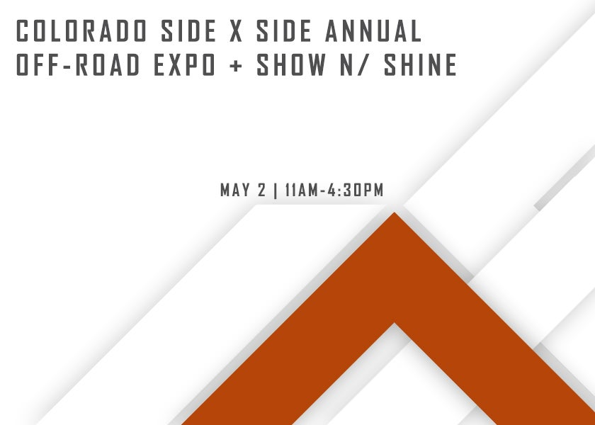 More Info for Colorado Side x Side Annual Off-Road Expo & Show n' Shine
