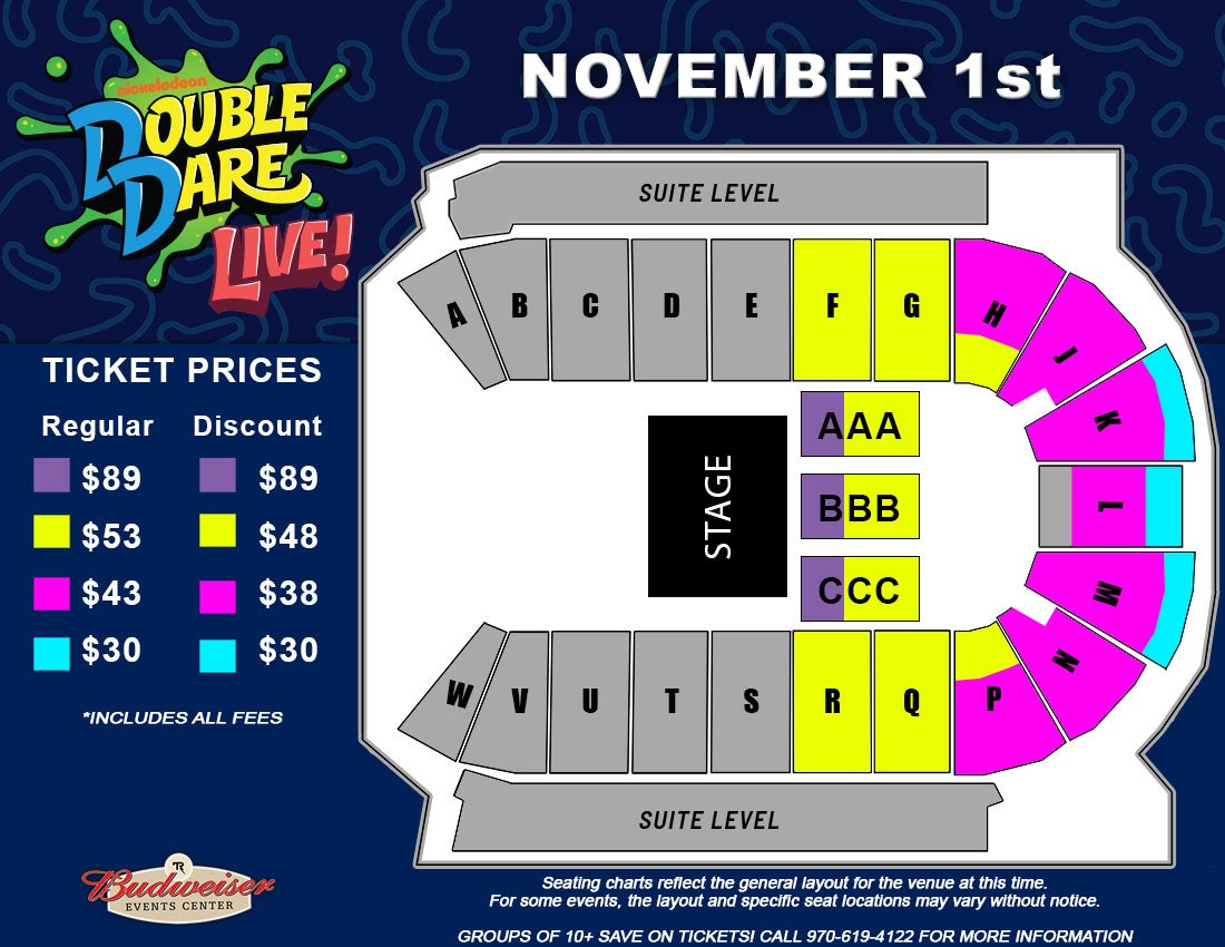 Double Dare Live! - Seating Map