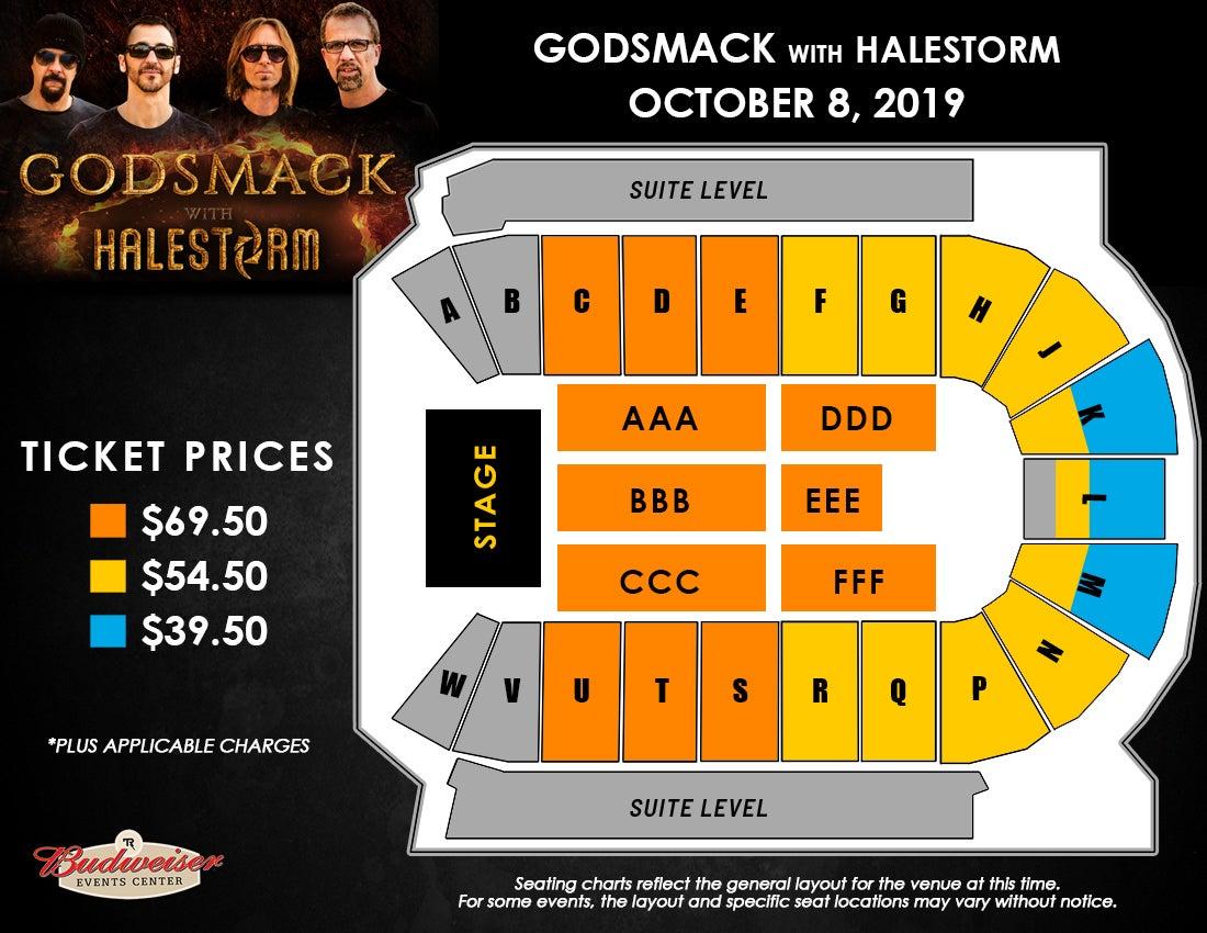 Godsmack - Seating Map
