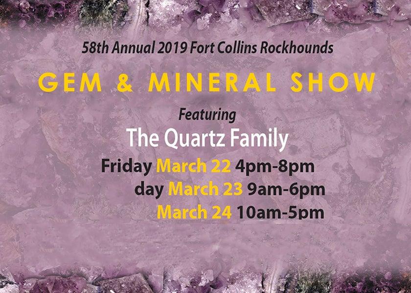 More Info for Fort Collins Rockhounds Gem & Mineral Show