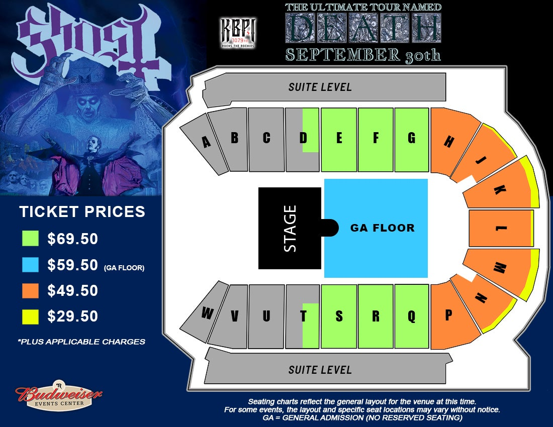 Ghost - Seating Map