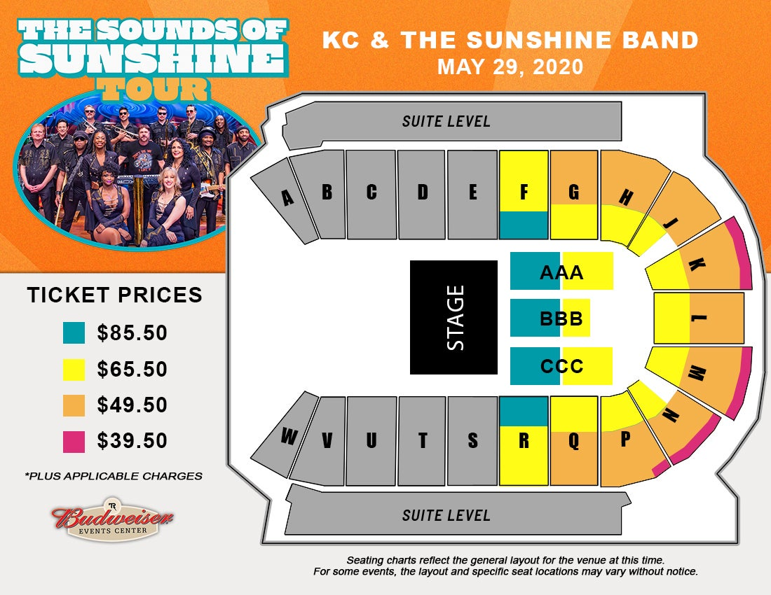 KC and the Sunshine Band - Seating Map