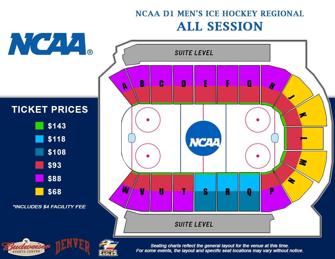 NCAA Loveland Regional - Seating Map