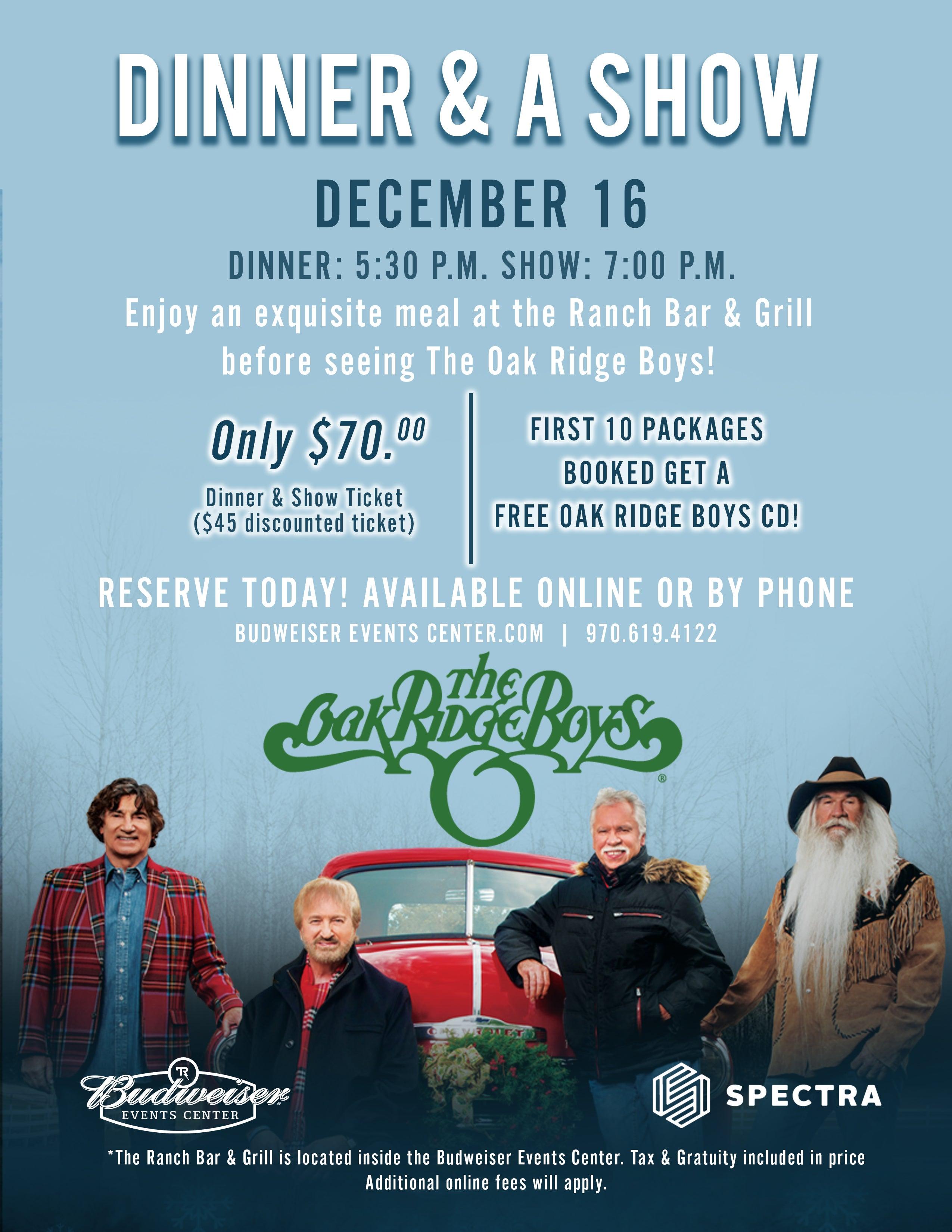 The Oak Ridge Boys | The Ranch, Larimer County Fairgrounds & Events ...