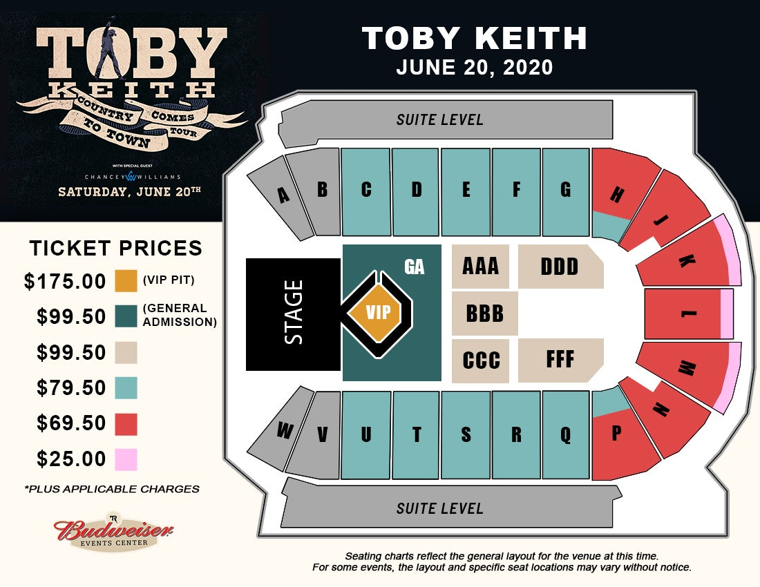 Toby Keith - Seating Map