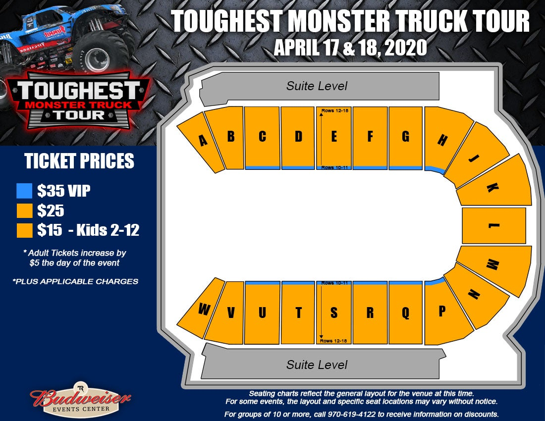 Toughest Monster Truck Tour - Seating Map