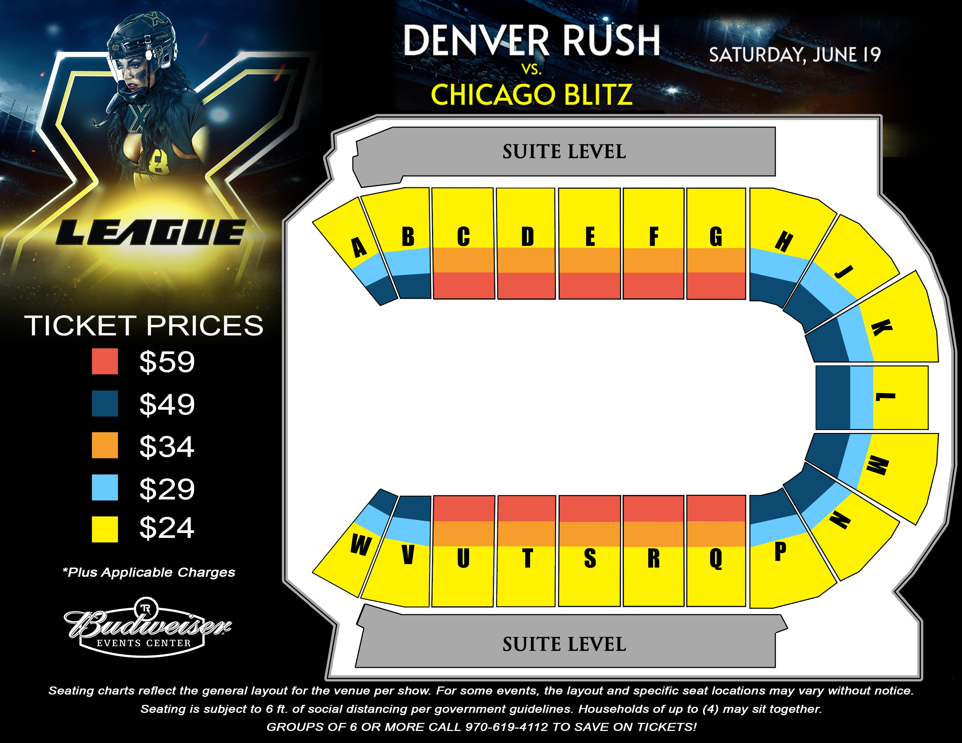 X League: Denver Rush vs. Chicago Blitz