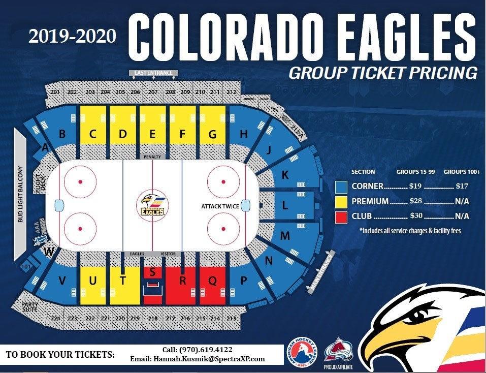 Colorado Eagles - Seating Map